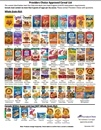 Providers Choice Cereal List